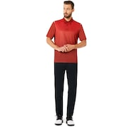 Polo Shirt Short Sleeve Striped Ellipse - Iron Red