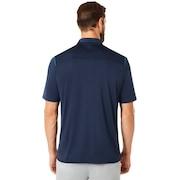 Polo Shirt Short Sleeve Striped Ellipse - Fathom