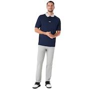 Polo Shirt Short Sleeve Back Striped - Fathom