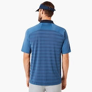 Polo Shirt Short Sleeve Back Striped - Ensign Blue