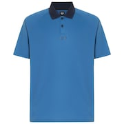 Polo Shirt Short Sleeve Back Striped - Ensign Blue