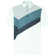 Polo Shirt Short Sleeve Placed Collar Block - Bay Green