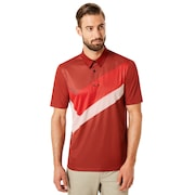 Polo Shirt Short Sleeve Placed Collar Block - Iron Red