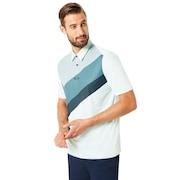 Polo Shirt Short Sleeve Placed Collar Block - Bay Green