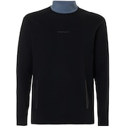 Cycling Collar Utility Long Sleeve Tee - Blackout