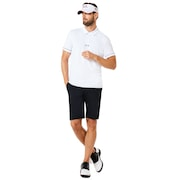 Polo Contrast Colar Detail Short Sleeve - White