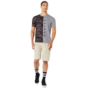 Camou Half Vertical Short Sleeve - Athletic Heather Gray
