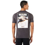 Glitch Advertising Short Sleeve - Jet Black Heather