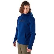 Hooded Scuba Fleece - Dark Blue