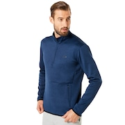 Half Zip Golf Fleece - Dark Blue Medium Heather
