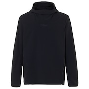 Utility Hooded Long Sleeve Tee - Blackout