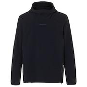 Utility Hooded Long Sleeve Tee - Blackout