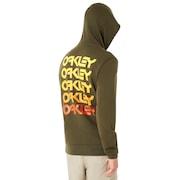 Fleece Oakley Loop Zipped - Dark Brush