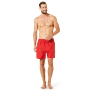 16 Inches Solid Boardshort - Red Line