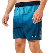 16 Inches Camou Boardshort - Dark Blue