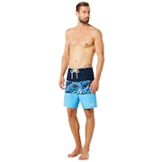 18 Inches Seemless Tropical Boardshort - Fathom