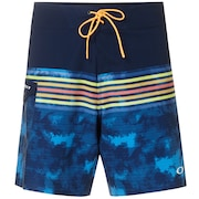 18 Inches Seemless Striped Boardshort - Fathom