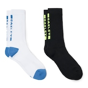 Socks Back Logo (2 Pcs Pack) - White