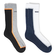 Half Color Socks - White