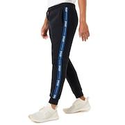 Street Logo Tape Fleece Pants - Blackout