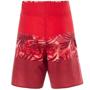18 Inches Seemless Tropical Boardshort - Red Line