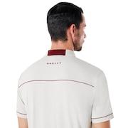 Polo Contrast Colar Detail Short Sleeve - Light Gray