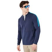 Light Stretch Perforated Fleece Bubba - Foggy Blue