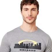 Orlando Skyline Sunset - Gray Melange
