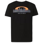 Miami Skyline Sunset - Blackout