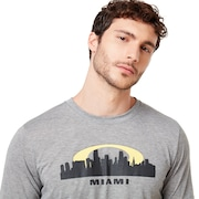 Miami Skyline Sunset - Gray Melange