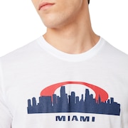 Miami Skyline Sunset - White