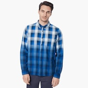 Gradient Check LS Shirt