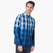 Gradient Check LS Shirt - Dark Blue
