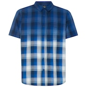 Gradient Check SS Shirt - Dark Blue