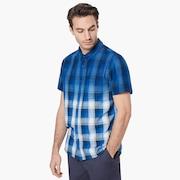 Gradient Check SS Shirt - Dark Blue