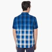 Gradient Check Short Sleeve Shirt - Dark Blue