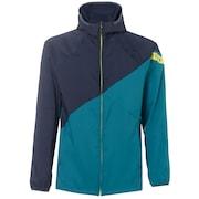 Enhance Double Cloth Hoody Jacket.Qd 9.0 - Petrol