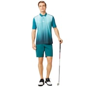 Infinity Line Golf Polo Short Sleeve - Petrol