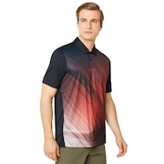 Exploded Ellipse Golf Polo Short Sleeve - Blackout