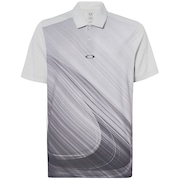 Exploded Ellipse Golf Polo Short Sleeve - Light Gray