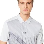 Exploded Ellipse Golf Polo Short Sleeve - Light Gray