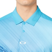 Exploded Ellipse Golf Polo Short Sleeve - Stormed Blue