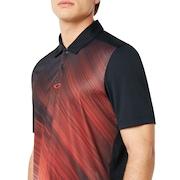 Exploded Ellipse Golf Polo Short Sleeve - Blackout