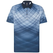 Barkie Gradient Golf Polo Short Sleeve - Fathom