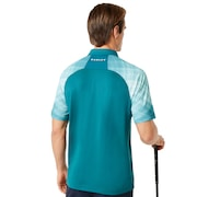 Barkie Gradient Golf Polo Short Sleeve - Petrol