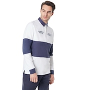 Tn Racing Team Long Sleeve Polo - White