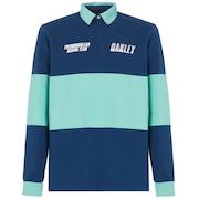 Tn Racing Team Long Sleeve Polo - Dark Blue