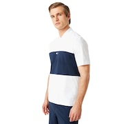 Color Block Polo Short Sleeve - White