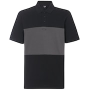 Color Block Polo Short Sleeve - Blackout