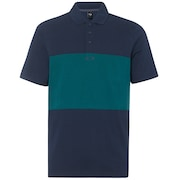 Color Block Polo Short Sleeve - Foggy Blue